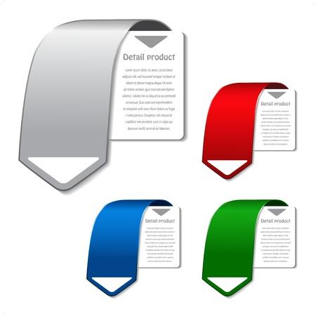 Vector product banners voor web