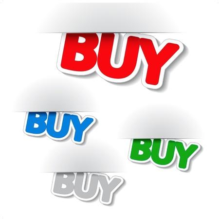 Vector fixed buy labels Stock Vector - 11651795