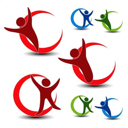 �resource: Vector iconos humanos Vectores