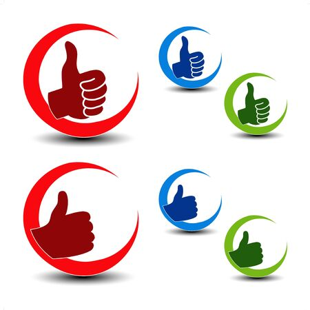 Vector best choice icons - gesture hand Vector