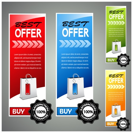 Vector shopping product banners Stock Vector - 11654688