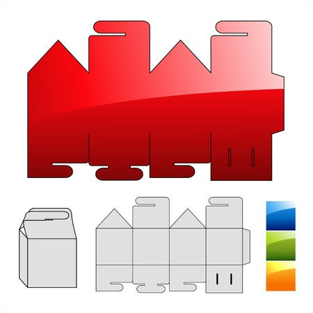 packets: Vector wrap puzzle template for box