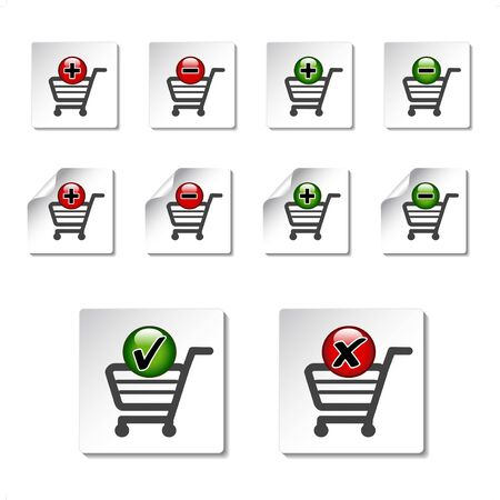 Vector add delete shopping cart item Stock Vector - 11651777