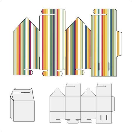 상자 벡터 포장 퍼즐 템플릿 일러스트