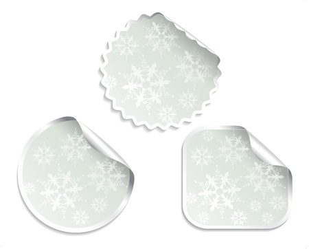 Vector Christmas offer stickers with snowflakes Stock Vector - 11654691