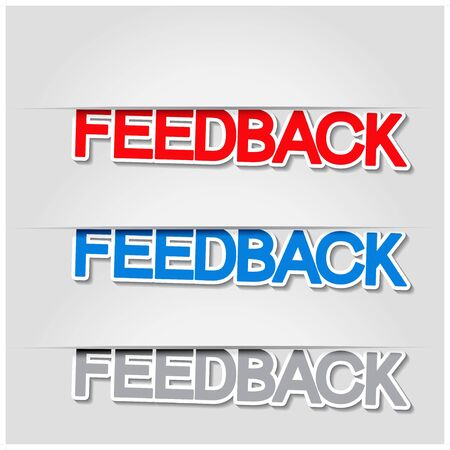 feedback sticker: Vector fixed feedback stickers