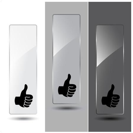 verre: Banni�res de verre Vecteur pour le texte de la publicit� Illustration