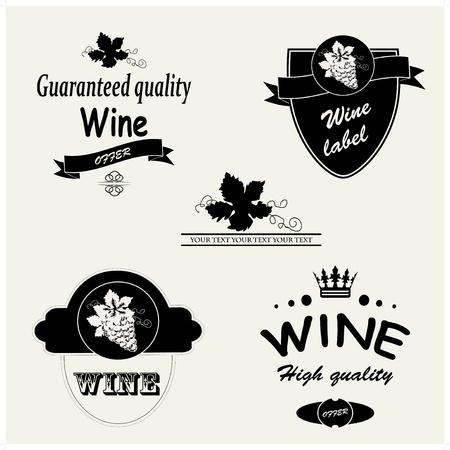 grape juice: Vector wine labels