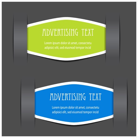 Vector fixed labels for advertising text