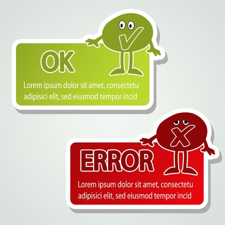 yes or no: Vector message labels - speech bubbles