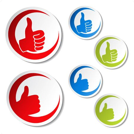 Vector best choice stickers - gesture hand Vector