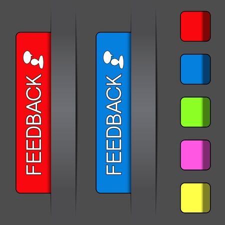 feedback sticker: Vector feedback labels