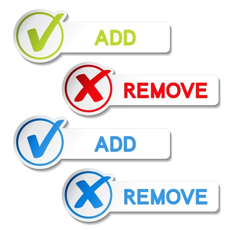 add button: Vector add remove item Illustration