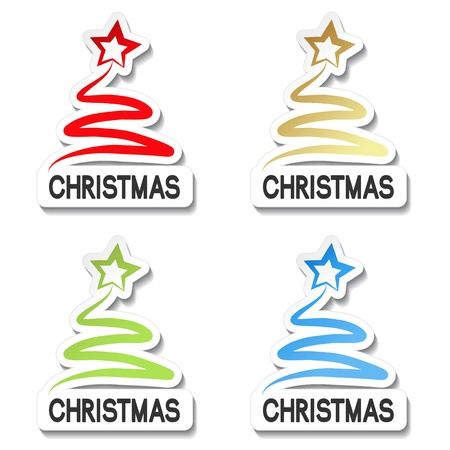 Vector Christmas offer stickers Stock Vector - 11920578
