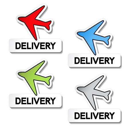 Vector transport pointers - airplane delivery Stock Vector - 11920461