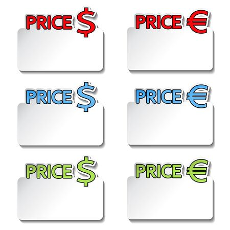 pricetag: Vector price-tag item - stickers Illustration