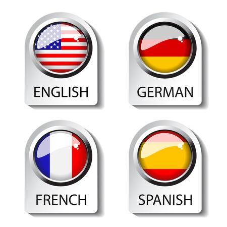 idiomas: Puntero del lenguaje vectorial para la web