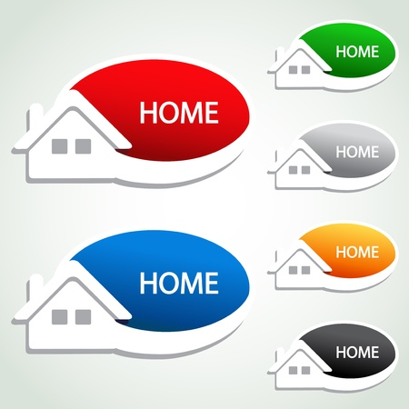 home button: Vector home menu item - homepage symbol