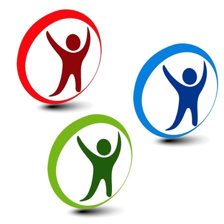 hand movement: Vector human icons