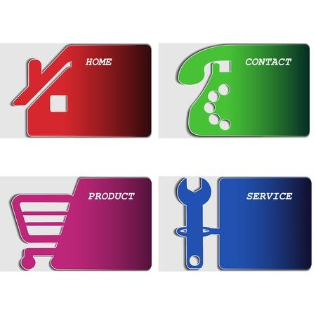 home shopping: Vector web navigation - menu template