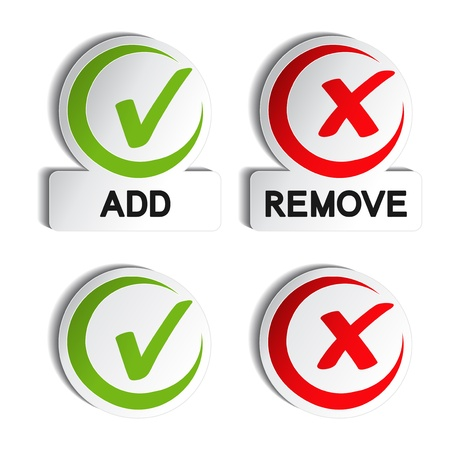 Vector add remove circular item Ilustracja