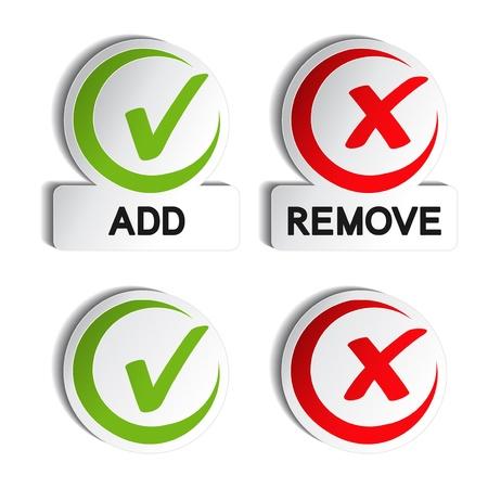 tick: Vector Agregar o quitar elemento circular