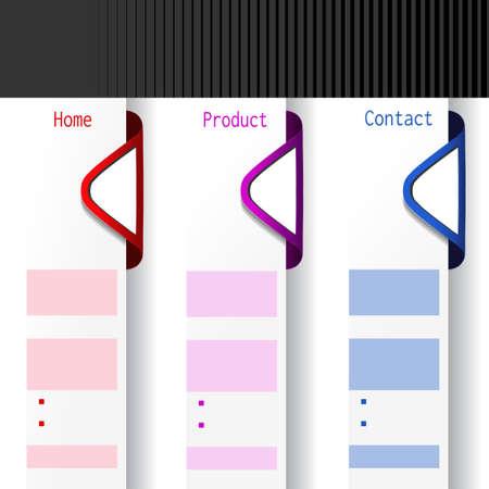 contact sheet: Vector arrow offer labels - web template