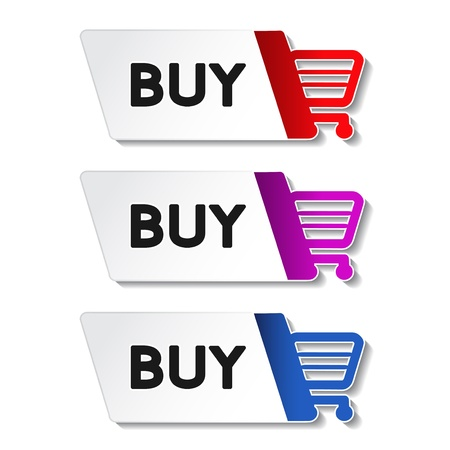 Vector shopping cart item - buy button Vector