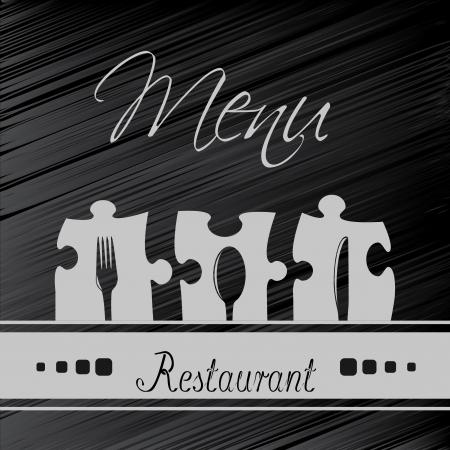 Vector restaurant menu design - sjabloon brochure Stock Illustratie