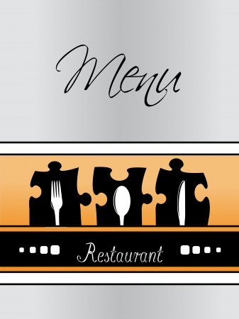 Vector restaurant menu design - template brochure Vector