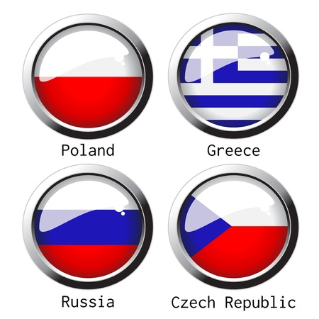 flag on football for Euro 2012 - group A Vector