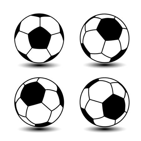 foot ball: soccer balls - icon Illustration