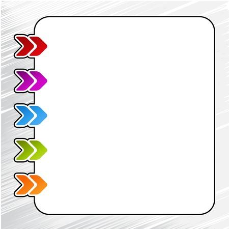 web navigation with arrow - menu template Illustration