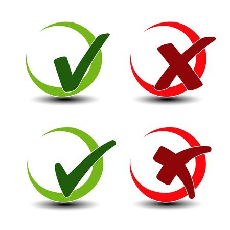 to tick: agregar quitar elemento circular - comprobar símbolo de marca