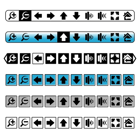 navigation buttons, simple icons Stock Vector - 16785137