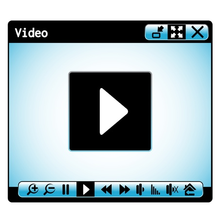 web video player window Vector