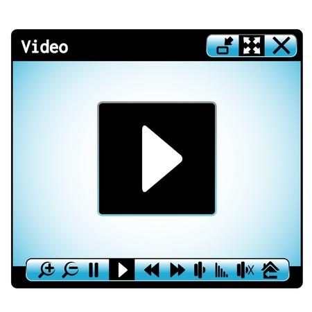 chat window:  web video player window