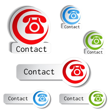 earpiece:  contact buttons - phone icons