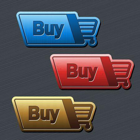 shopping cart item - buy button Stock Vector - 16785178
