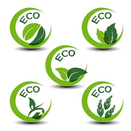 natuur symbolen met blad - ecopictogrammen