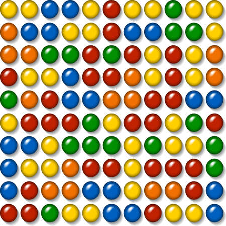 plastic caps - construction toy - seamless mosaic background   Vector
