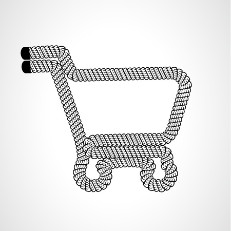 shopping cart item - shopping trolley Stock Vector - 16785201