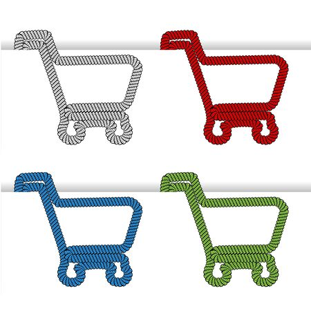 shopping cart item - shopping trolley Vector