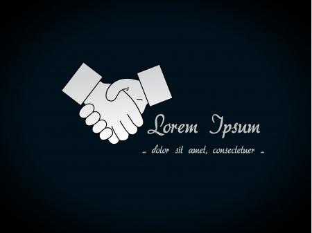 pacto: gesto de la mano - símbolo de apretón de manos, fondo