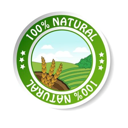 produits céréaliers: autocollant naturel, l'étiquette nature papier