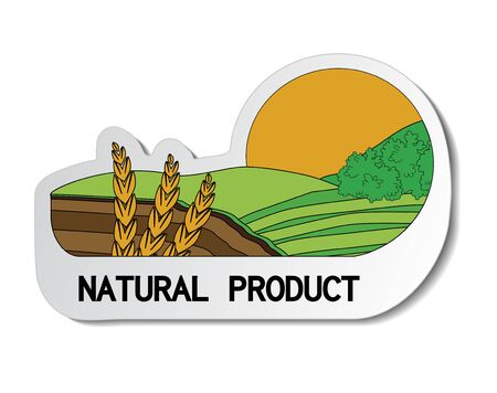 natural sticker, paper nature label Stock Vector - 16785162