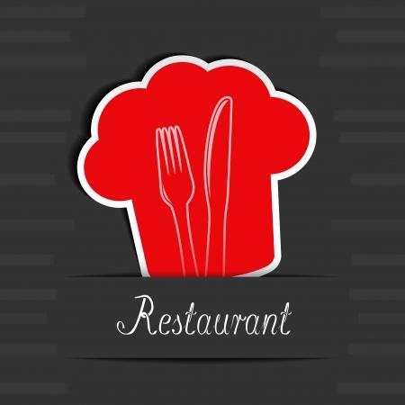 modern kitchen design: menu restaurant card - illustration