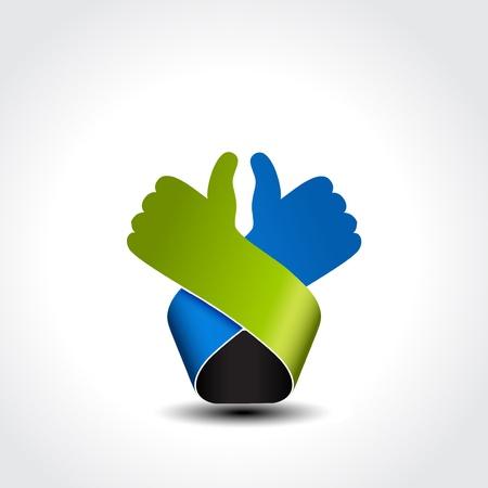 mejor símbolo elección - gesto de la mano - ilustración