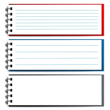memo pad: blank open notebook - illustration