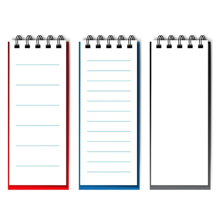 lined: blank open notebook - illustration
